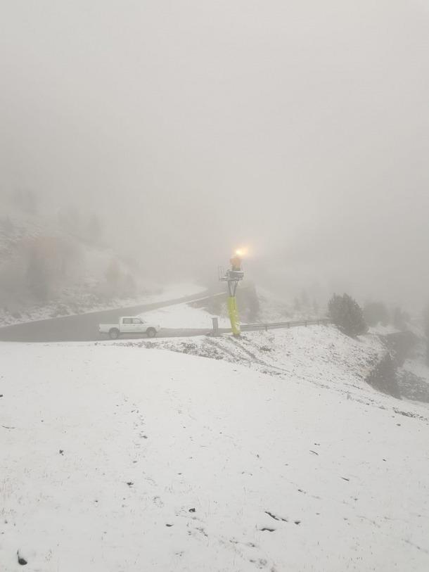 Ordino Arcalís ha pogut posar en funcionament els canons de neu.