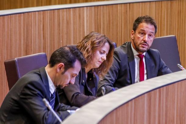 Els parlamentaris del PS en una sessió del Consell General.