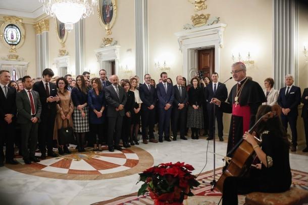 Un moment del discurs de l'arquebisbe, Joan-Enric Vives.