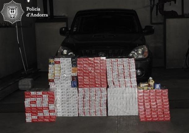 Els paquets de tabac confiscats en l'operació 'Bullabesa'.
