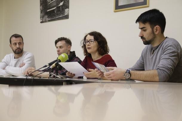 Salvat, Murias, Farrero i Tudó en la presentació de la campanya, ahir.