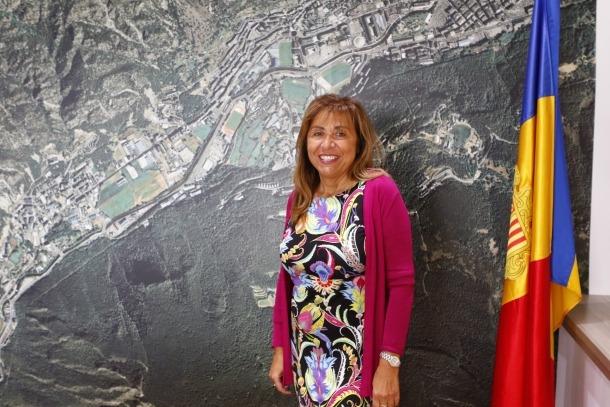 La cònsol major d'Andorra la Vella, Conxita Marsol, al seu despatx.