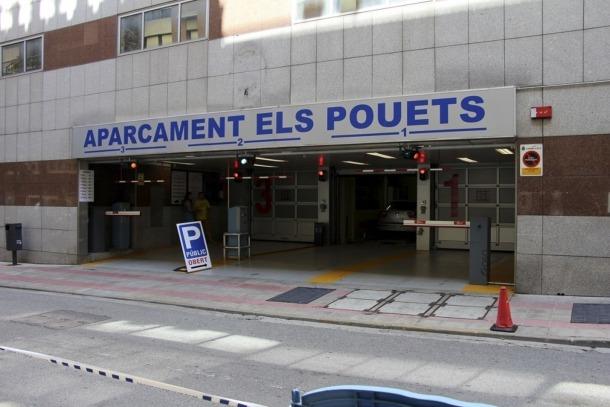 L'aparcament dels Pouets, propietat del Comú d'Andorra la Vella.