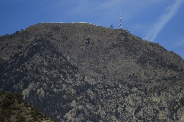 Vista del pic de Carroi, on hauria d'arribar el telefèric.