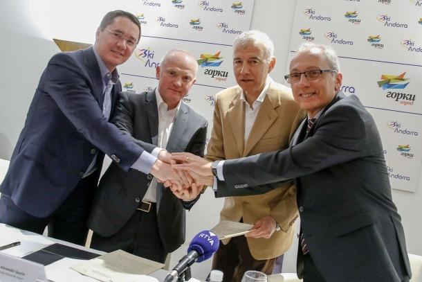 Ski Andorra i l'estació russa de Gorky Gorod van signar ahir un memoràndum d'entesa.
