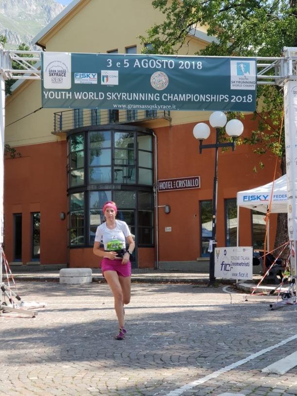 Andrea Sinfreu en un moment de la cursa.