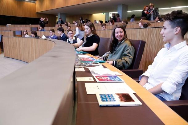 Un moment del Consell General dels Joves, ahir.