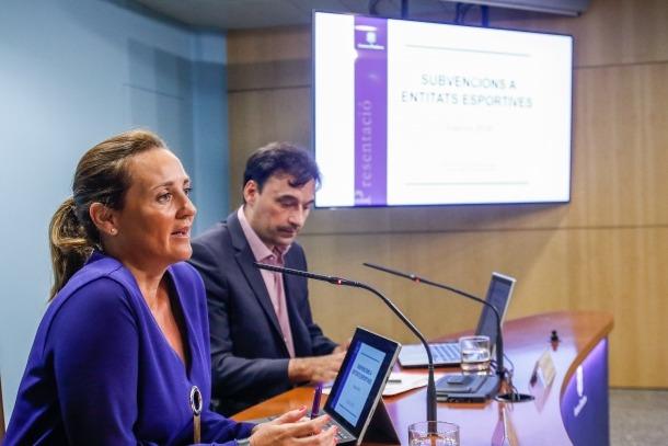 Olga Gelabert i Jordi Beal van presentar ahir les subvencions a entitats esportives per a l'exercici 2018.