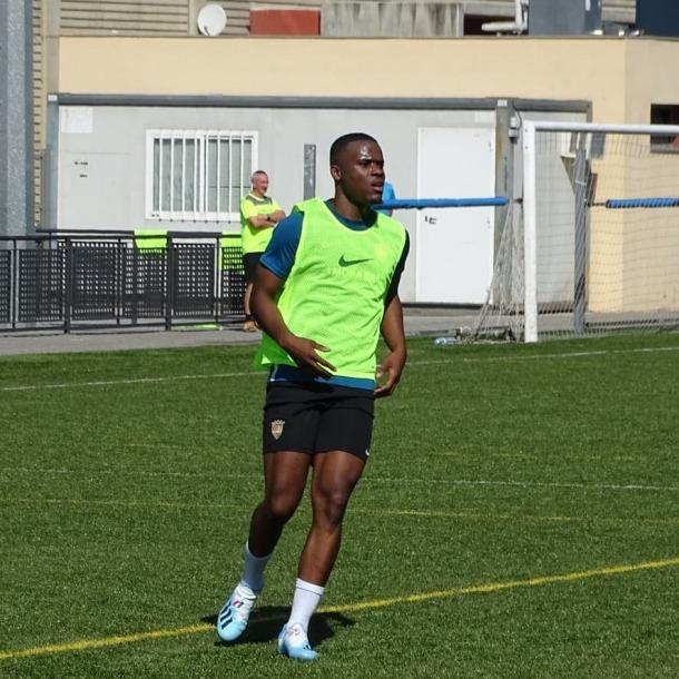 Aimery Pinga, a punt per jugar contra el Nàstic Tarragona