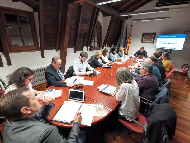La reunió del Consell Comarcal de dijous passat.
