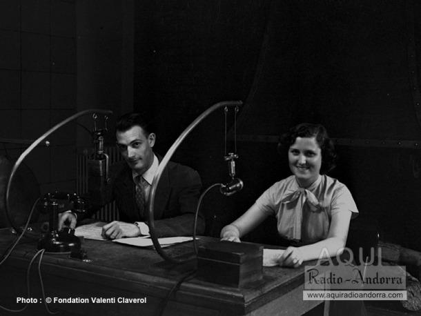 Paul Servant i Montserrat Rodríguez al Roc de les Anelletes, a principis dels anys 50