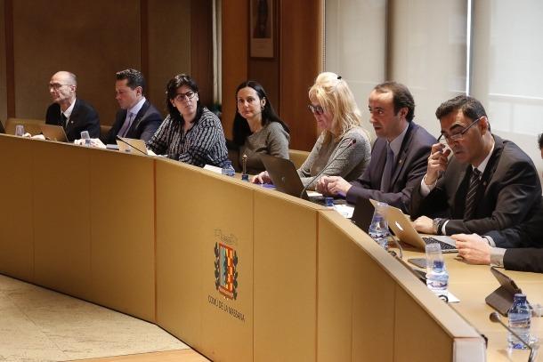 Sessió del Comú de la Massana en la qual es van aprovar els comptes del 2017, ahir al matí.