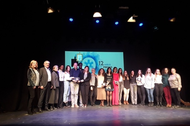 Marta Fonolleda, Mercè Junyent i Ingrid Mulà van recollir el premi.