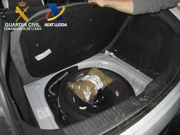 Detingut un jove veí de Lleida amb 315 grams de marihuana