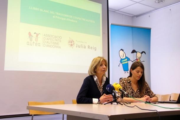 Moment de la presentació del Llibre blanc de l'autisme, el mes de febrer passat.