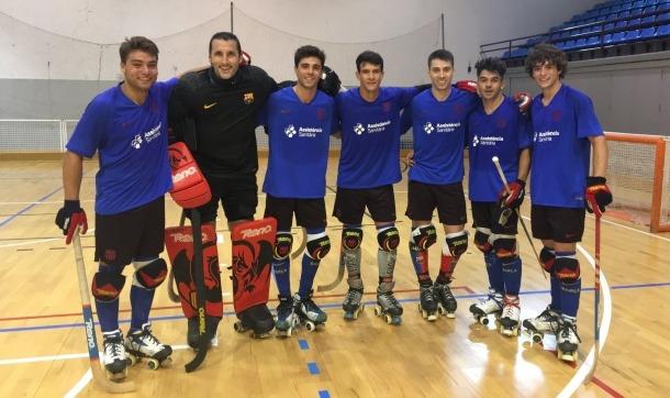 El primer equip del Barça d'hoquei ja es troba a Encamp
