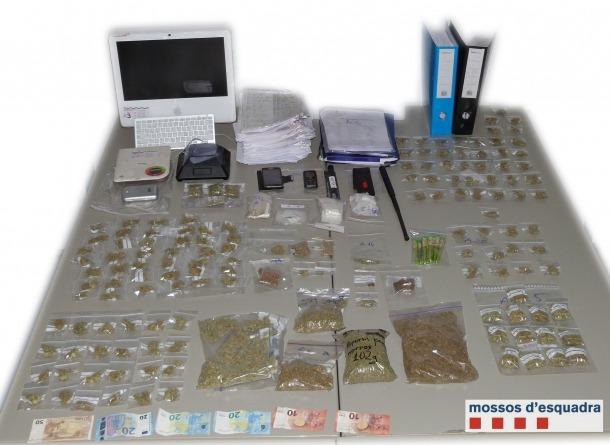 Dos detinguts per vendre marihuana a persones de la comarca i Andorra