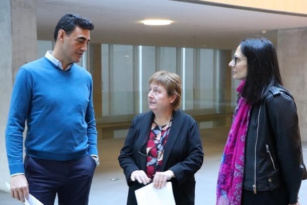 Raul Ferré, Sílvia Ferrer i Esther Molné, ahir al Consell General.