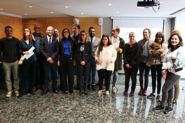 Els guardonats als premis FADA 2018.