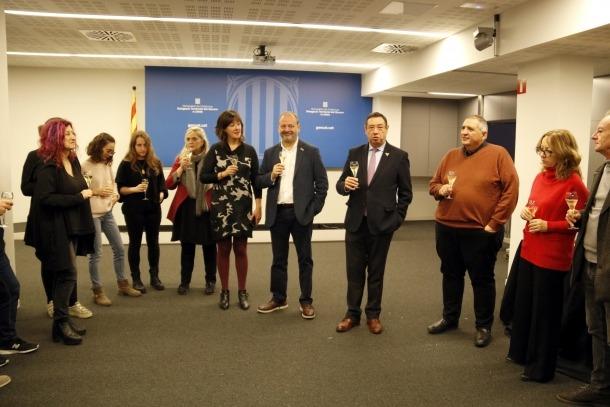 El delegat del Govern català a Lleida, Ramon Farré, amb periodistes.