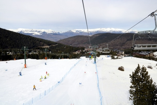 Una part deldomini esquiable de La Molina.
