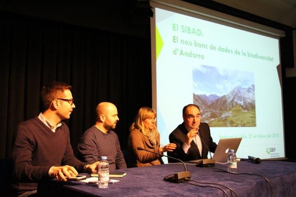 Presentació de la base de dades de biodiversitat d'Andorra creada pel Cenma, aquest dimarts a la tarda.