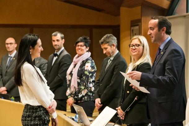 La nova cònsol menor de la Massana, Olga Molné, va jurar ahir el càrrec.