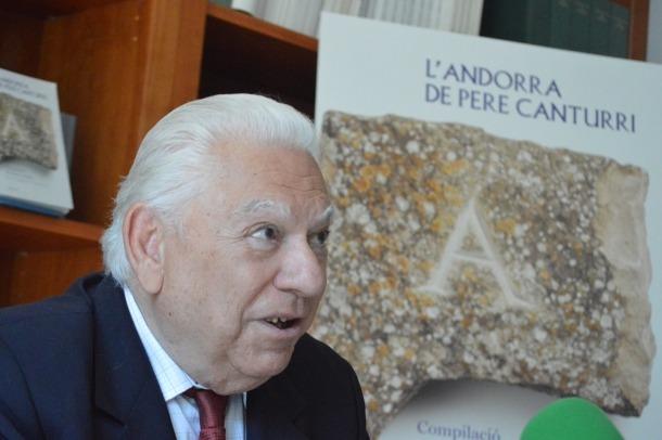 En Peret dels ossos, l'abril del 2014, quan va presentar 'L'Andorra de Pere Canturri'.