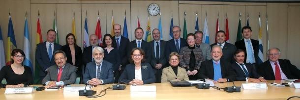 Els participants a les jornades constitutives del Siaces a Madrid.