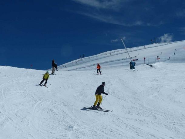 Esquiadors a l'estació d'esquí de Masella durant aquesta Setmana Santa.