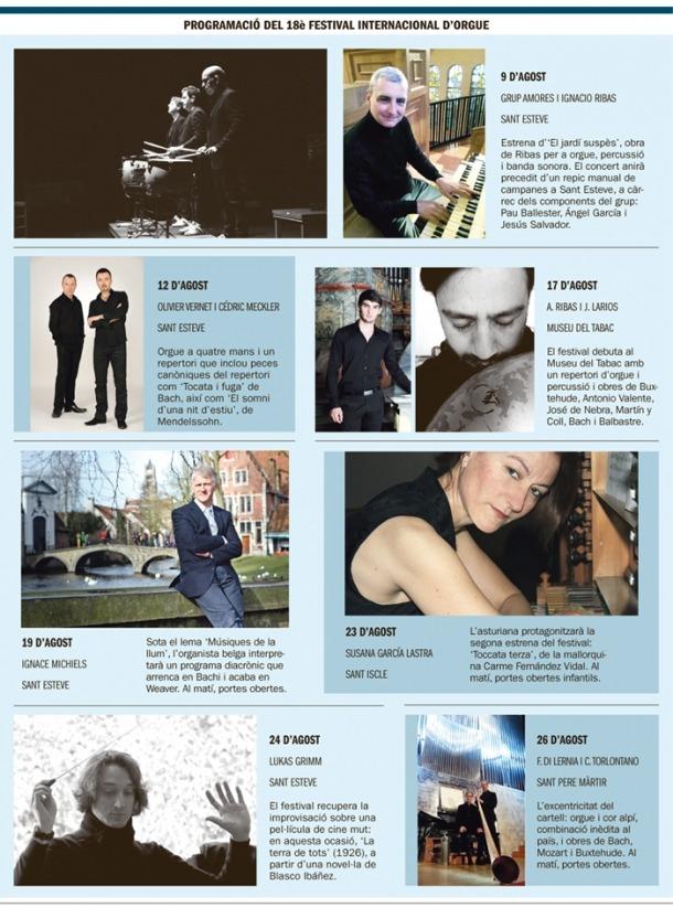 Andorra, festival, orgue, Ribas, Ignacio, Ignasi, Amores, Meckler, repic, Aaron, Michiels, Lasdtra, Grimm, Blasco Ibáñez