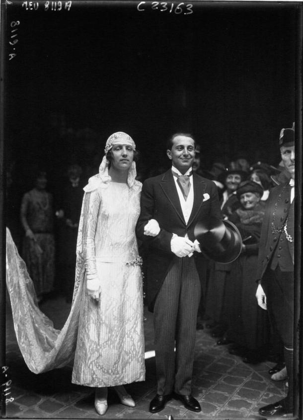 1923: casament de James Rotschild i Claude Dupont a la Gran Sinagoga de París.