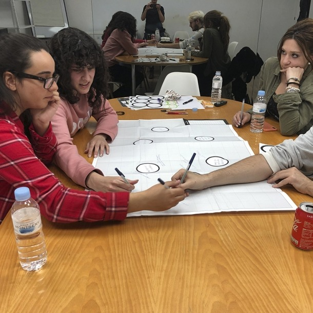 Tallers participatius dels joves que viuen i estudien a Barcelona.