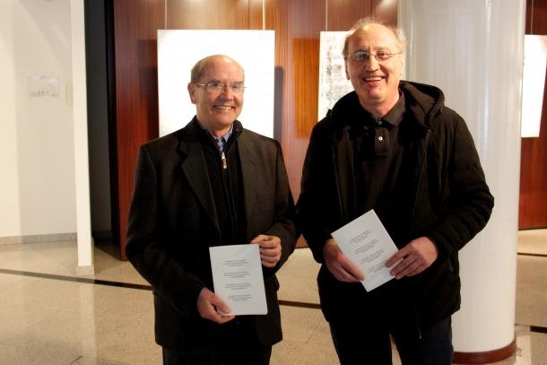 Joan Ganyet i Antoni Pol, dos dels impulsors del manifest.