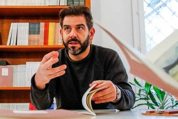 El narrador lauredià, en la presentació a la premsa de 'Fragments de paistage', ara fa dos cursos.