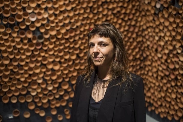 L'artista massanenca, al pavelló andorrà de la Biennal de Venècia, el maig del 2017.