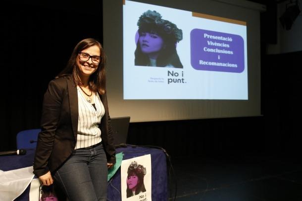 Vanessa Mendoza va presentar les conclusions de la campanya 'No i punt'.
