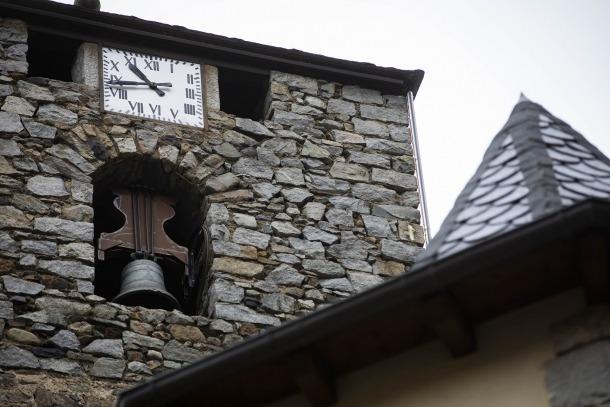 L'esfera del tercer pis del campanar de Sant Esteve data del 1968.