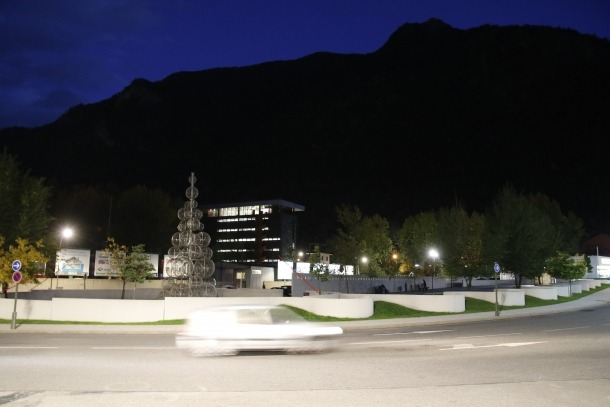 Andorra, Santa Coloma, frescos, mural, romànic, aparcament d'Enclar, semisoterrani, Aixovall, Rosaleda
