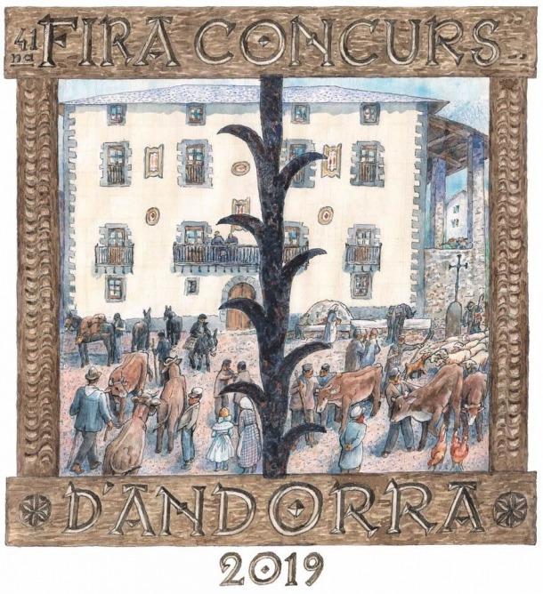 La casa Guillemó, tal com l'ha imaginat Sergi Mas per al cartell de la fira-concurs, a través d'un estripagecs imaginari.