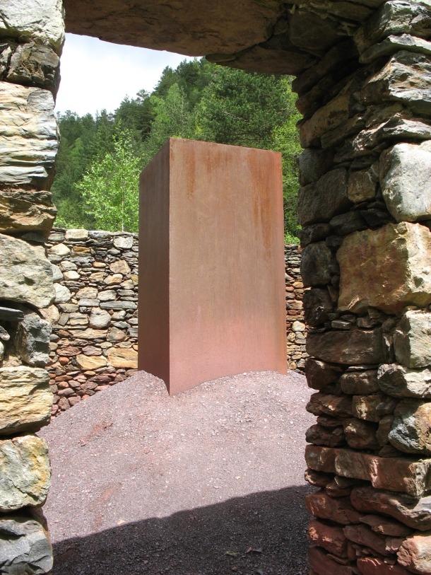 Alberto Carneiro, Andorra, Ruta del Ferro, camí ral, escultura