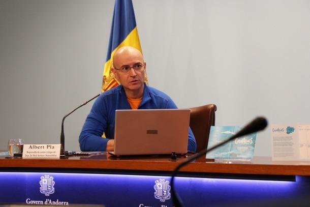 El responable de camins i refugis del departament de Medi Ambient i Sostenibilitat, Albert Pla.