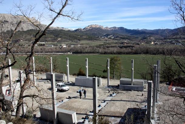 Pla general de l'estació de bombament que s'està construint.