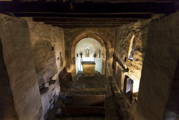 Sant Serni de Nagol és una de les esglésies que s'estrena com a auditori; ara, amb el flamant i polèmic parquet.