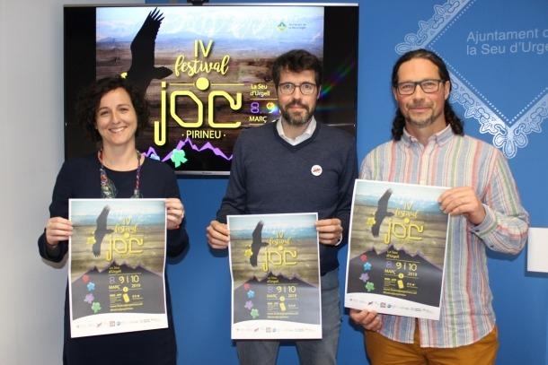 L'alcalde de la Seu d'Urgell, Albert Batalla, va presentar la quarta edició del Festival del Joc del Pirineu.