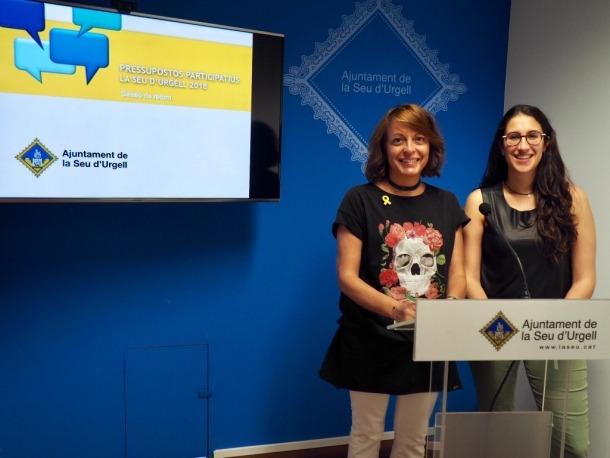 La presentació dels projectes guanyadors dels pressupostos participatius.