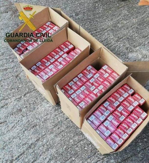 Aquest és el tabac comissat per la guàrdia civil dissabte passat a Asnurri.
