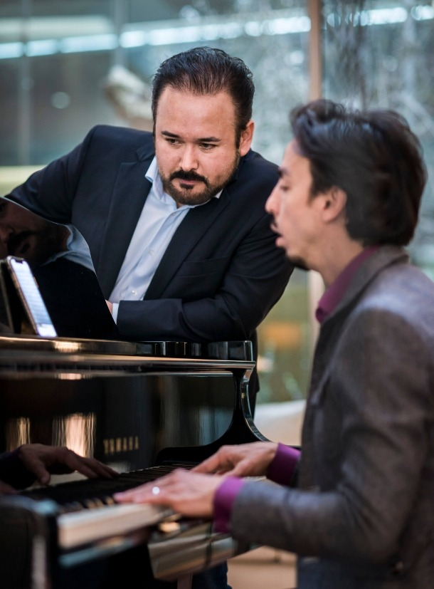Camarena i el pianista que l'acompanyarà aquest vespre, Ángel Rodríguez.