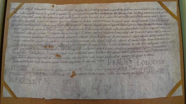 El document 'original' –de fet, una còpia del segle XII– es conserva a l'Arxiu Capitular; aquí dalt, el facsímil publicat a 'Andorra Aeterna'.
