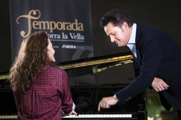 Beczala i la pianista Sarah Tysman, ahir al Centre de Congressos.